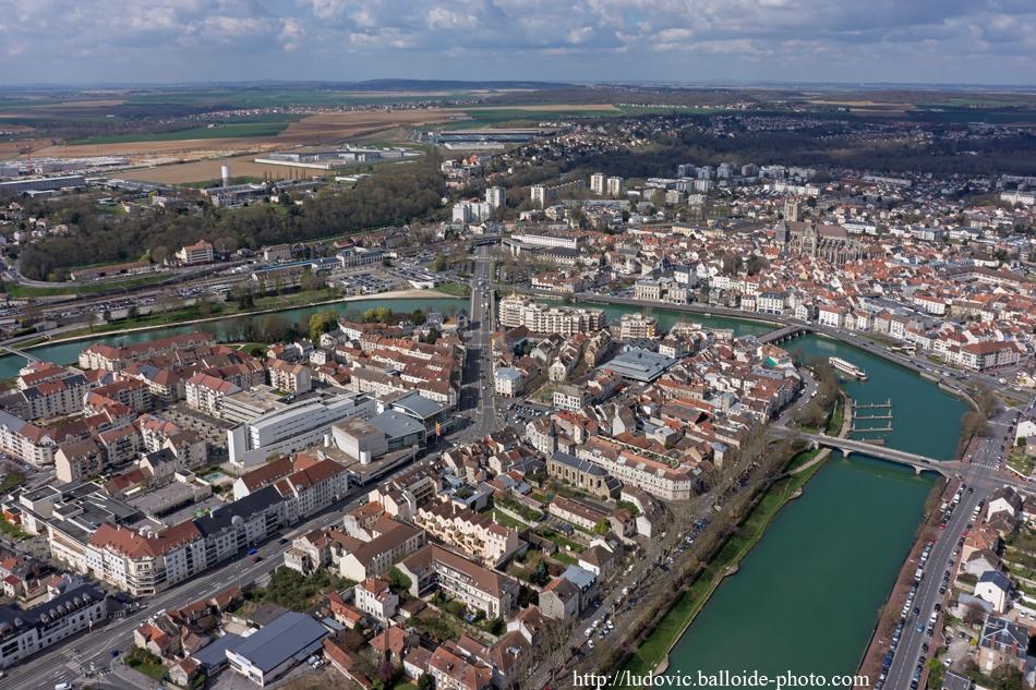 Photo aérienne Meaux