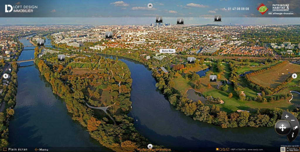 Vue aérienne panoramique