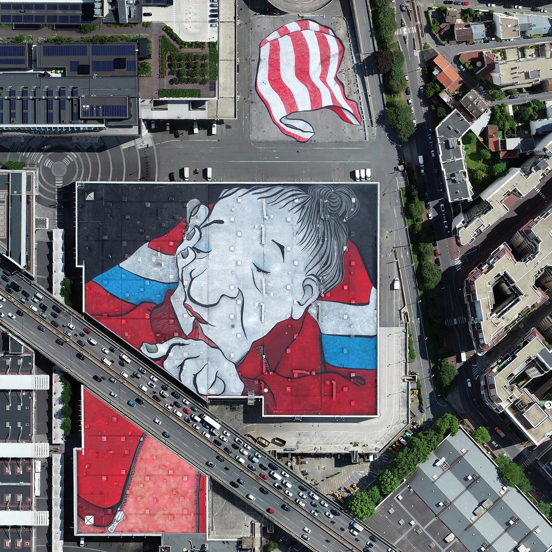 Vue aérienne street art